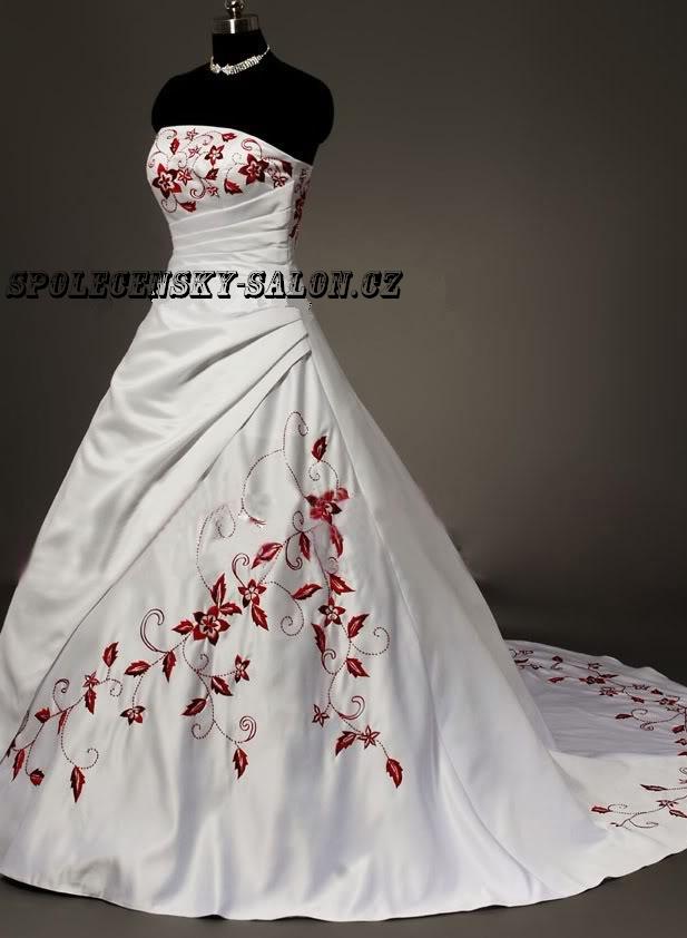 svatební šaty bordó výšivka - plesové šaty b44b8e74a3c
